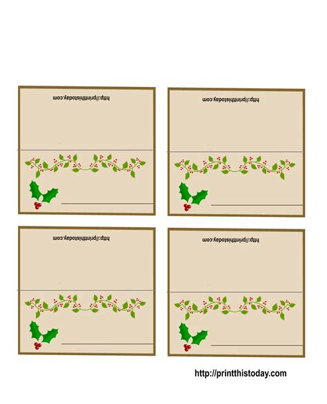 printable card websites for free free printable place cards