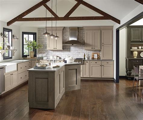 Paint Kitchen Island taupe kitchen cabinets decora cabinetry