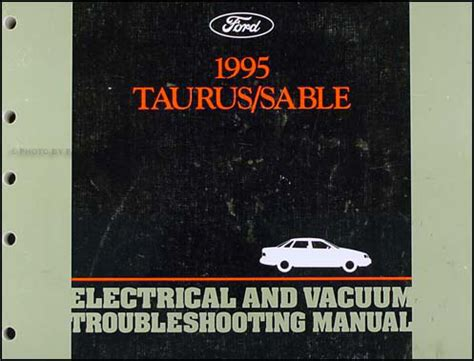 electric and cars manual 1995 ford f series navigation system 1995 ford taurus mercury sable electrical troubleshooting manual wiring diagram ebay