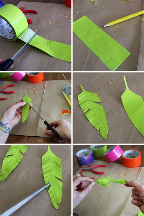 how to make feather jewelry diy duct feather earrings tutorial duct crafts