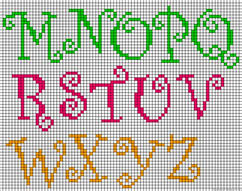 perler bead letters alphabet m z perler bead pattern stuff i