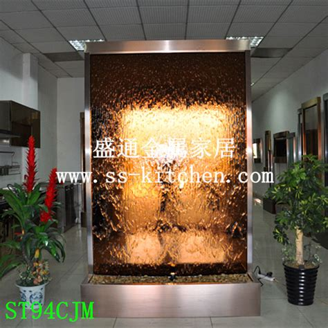 water decoration stainless steel water room divider waterfall