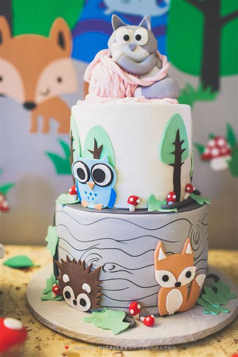Shower For Babies by Woodland Creature Baby Shower Cake Inspiration