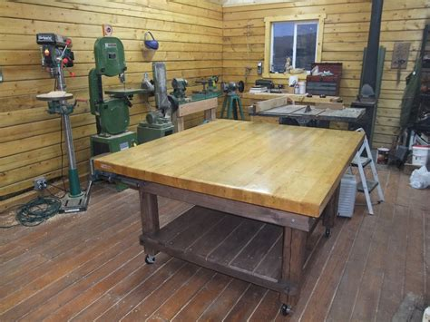 woodworking shop table free picnic table plans large wood shop work tables