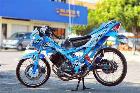 Modifikasi Motor Satria by 100 Gambar Modifikasi Satria Fu Keren Terbaru Modif Drag