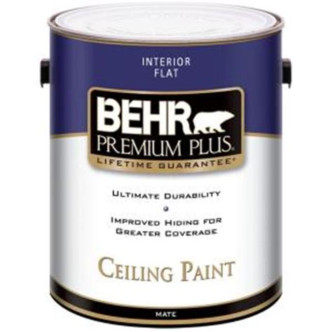 home depot heat resistant paint behr premium plus 1 gal flat interior ceiling paint 55801