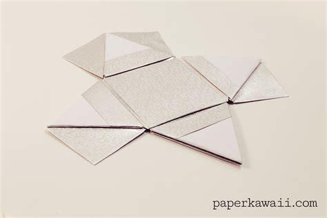 origami pyramid box modular origami pyramid box tutorial paper kawaii