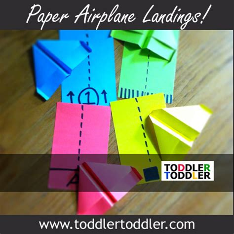 paper airplane crafts toddler activities paper airplane landings