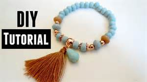 how to make beaded bracelets with elastic how to make an elastic bracelet jewelry tutorials