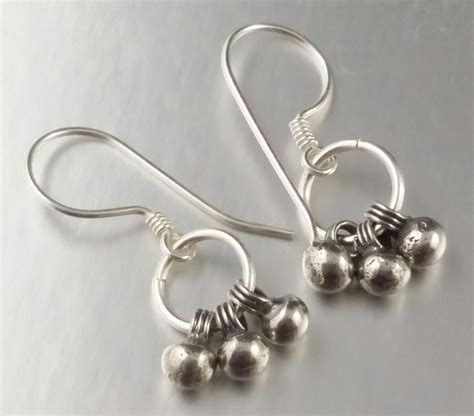 Sterling Silver Trio Wire Wrapped Length Dangly