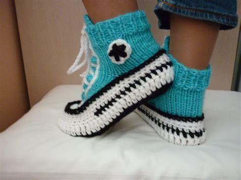Crochet Pattern Converse Slippers Knitted Pattern Slippers