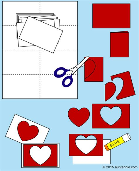 how to make shaped cards easy cards for to make s day