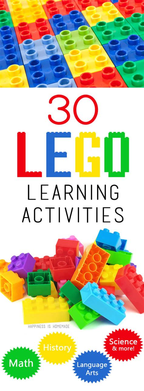 educational crafts for 30 lego learning activities happiness is