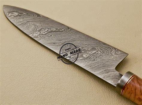 damascus kitchen knives damascus chef knife custom handmade damascus steel kitchen