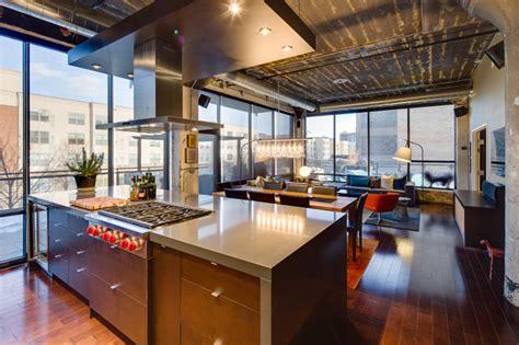 warehouse kitchen design dwelling designs warehouse district loft industrial