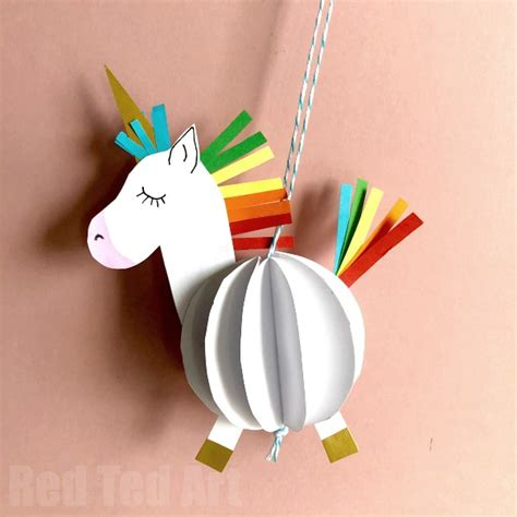 unicorn crafts for easy 3d paper unicorn decoration ted s