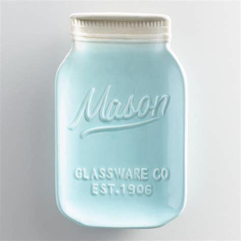 Kitchen Canisters Blue mason jar ceramic spoon rest world market