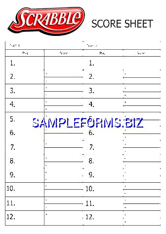 printable scrabble score sheet score sheet templates sles forms free