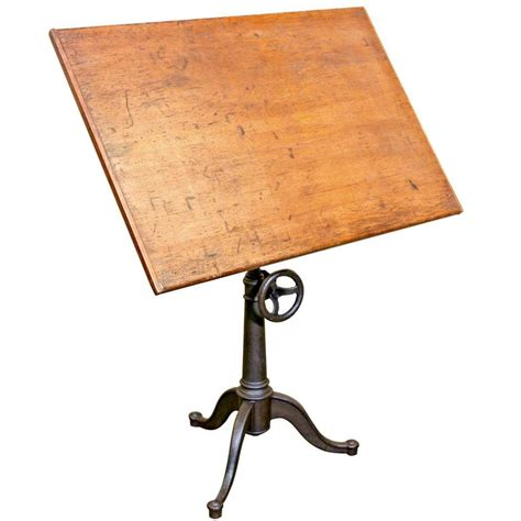 cast iron drafting table vintage cast iron articulating tripod base drafting table