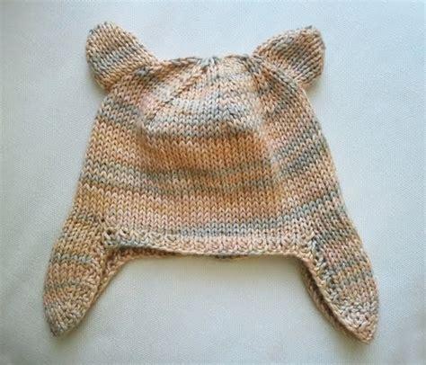 knit hat ear flaps pattern luluknits baby ear flap hat with ears