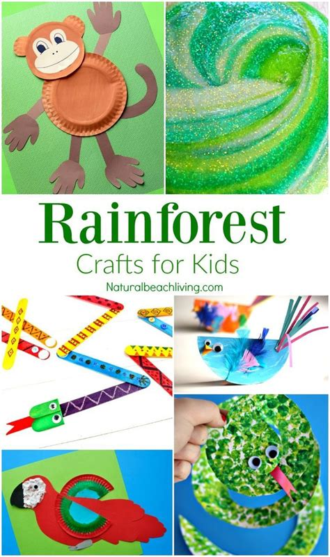 jungle crafts for rainforest a collection of science and nature