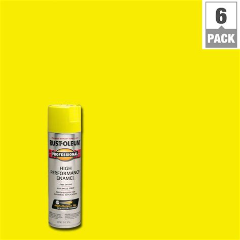spray paint yellow rust oleum professional 15 oz gloss safety protective