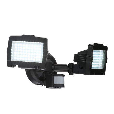 home depot solar motion lights nature power black solar motion sensor 120 led outdoor
