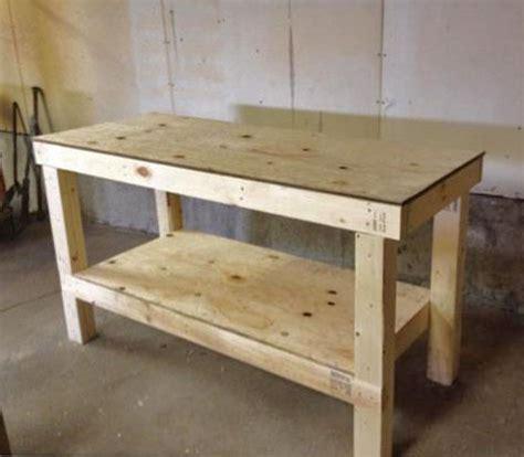 garage bench designs easy diy garage workshop workbench knock wood