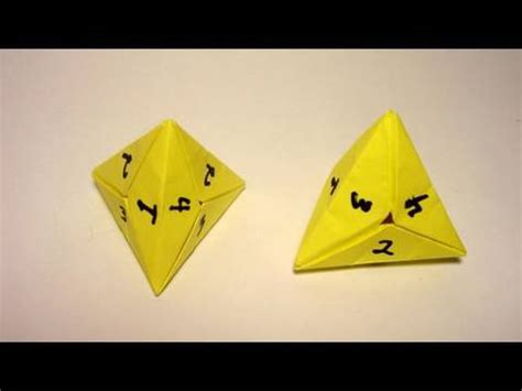 origami dice origami 4 sided dice tetrahedron