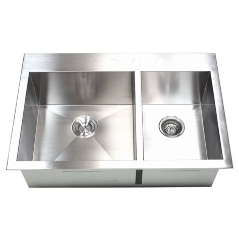 40 inch kitchen sink 33 inch top mount drop in stainless steel 60 40