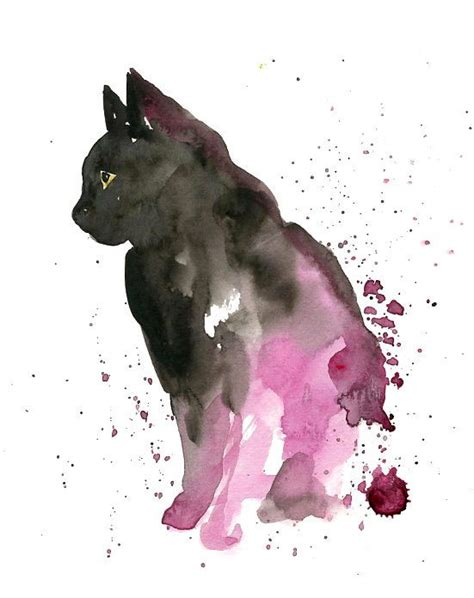 black cat painting designs 25 best ideas about watercolor cat on