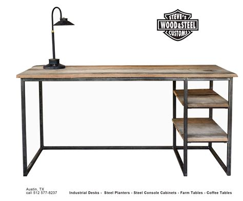 industrial computer desk buy a custom made industrial reclaimed wood desk made to