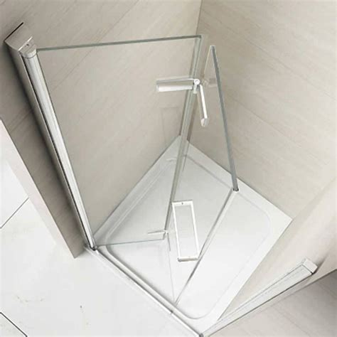 bi fold shower door frameless merlyn 8 series 1000mm frameless hinged bifold door