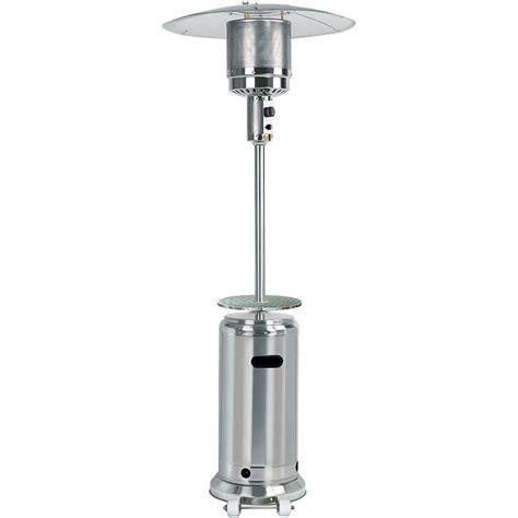 stainless steel outdoor patio heater gardensun stainless steel 41 000 btu outdoor propane