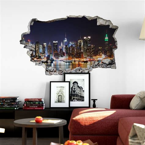 new york skyline wall sticker 3d wall sticker new york skyline wall