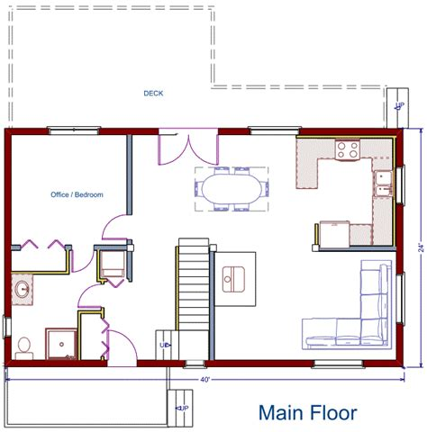basement in suite floor plans house plans for 24x40 house with loft studio design
