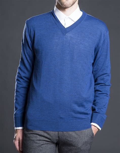 blue knit sweater basic blue knit sweater roberto verino