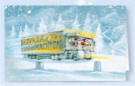 lkw weihnachtsbaum 100er packs weihnachtskarten alle karten de