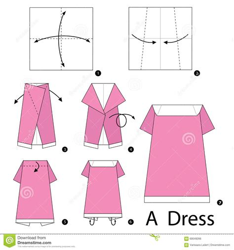 how to make origami clothes step by step how to make origami a dress