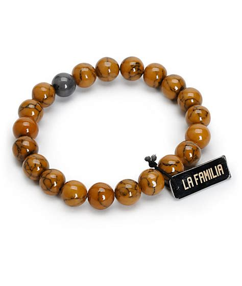La Familia Lax Brown Beaded Bracelet