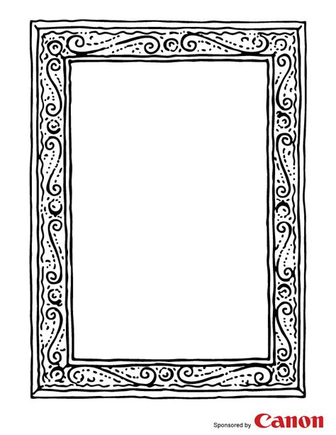 frame 1 free printable coloring pages