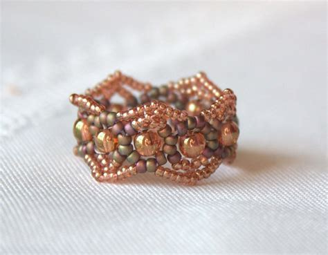 beaded ring beading from the shaitana bracelet and ring