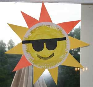 paper plate sun craft sun safety ideas on