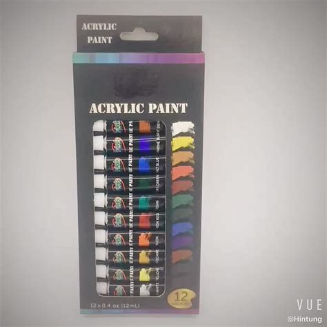 acrylic paint high quality non toxic high quality artist 12pcs 12ml acrylic paint set