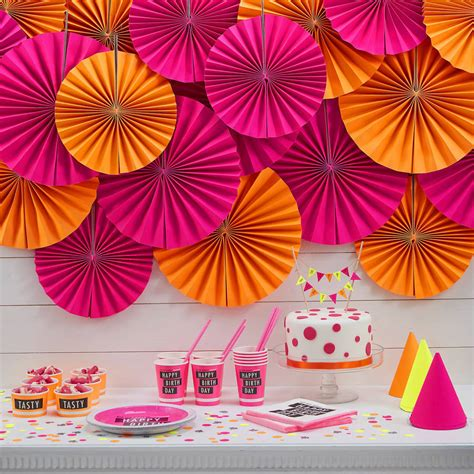 decorations images neon pink circle fan decorations by