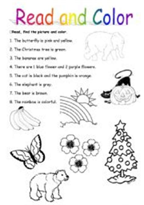 read colored teaching worksheets colours