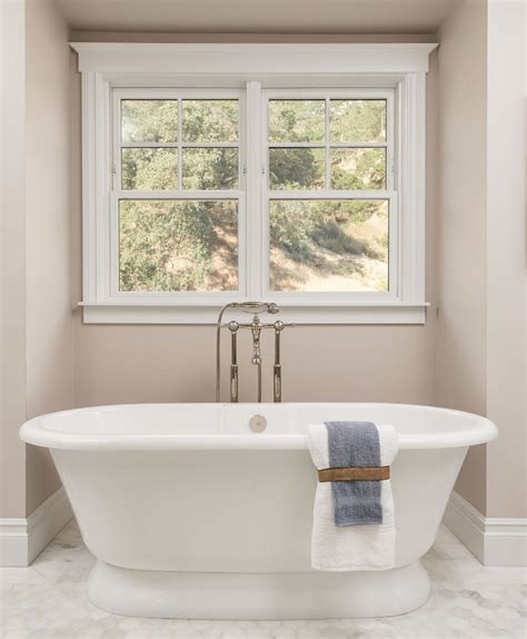 Neutral Color Bathrooms by Newly Built Htons Style Home Home Bunch Interior
