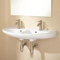 kitchen sink shower cassin bowl porcelain wall mount bathroom sink