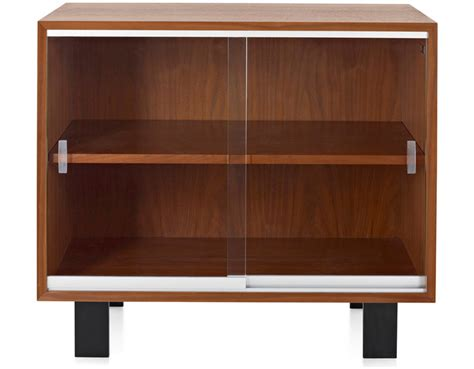 glass door tv cabinet nelson basic cabinet with glass sliding doors hivemodern