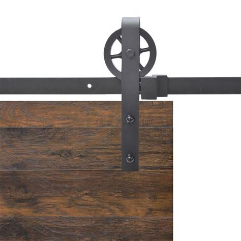 black barn door hardware calhome vintage industrial wheel steel sliding barn